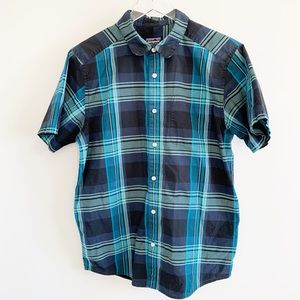Patagonia plaid short sleeve collared button down